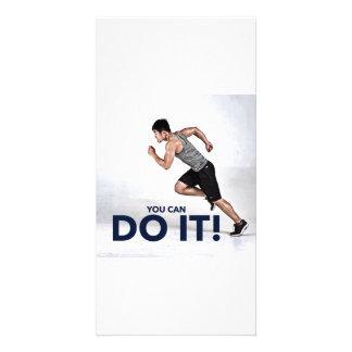 Você pode fazê-lo! - Cartão/cartão inspirador Cartão Com Foto