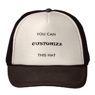 Você pode personalizar este chapéu! boné