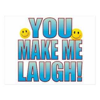 Você ri a vida B Cartão Postal