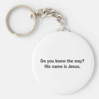 Você sabe a maneira? Seu nome é Jesus. Chaveiro