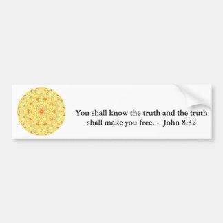 Você saberá que a verdade e a verdade devem ...... adesivo para carro