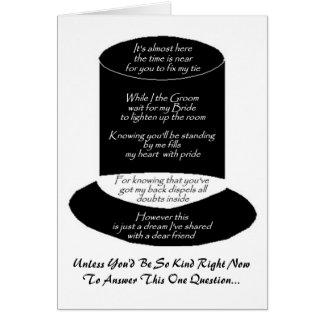 """""""Você será cartão do meu padrinho de casamento"""""""
