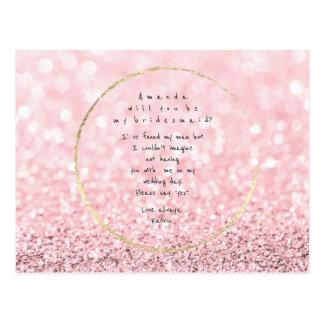 Você será meu brilho do ouro do rosa do rosa da cartão postal