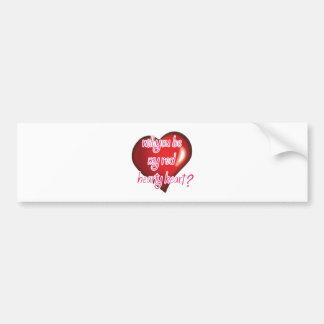 Você será meu coração entusiasta vermelho? adesivo para carro