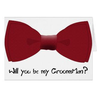 Você será meu padrinho de casamento? Cartão