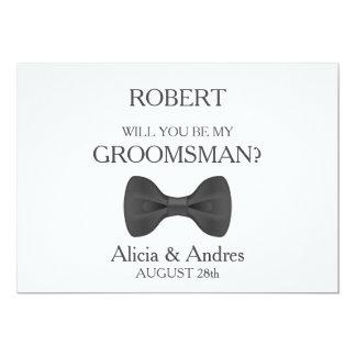 Você será meu padrinho de casamento? convite 12.7 x 17.78cm