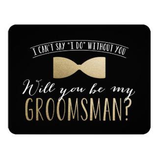Você será meu padrinho de casamento? padrinhos de convite 10.79 x 13.97cm