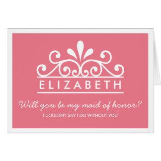 Você será minha madrinha de casamento? Cartão