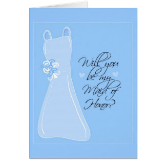 """""""Você será minha madrinha de casamento? """" Cartão Comemorativo"""