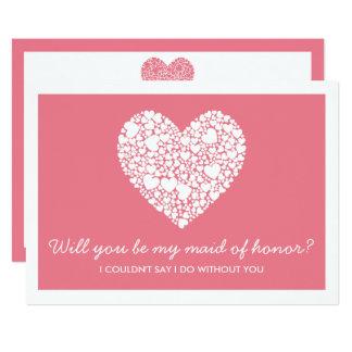 Você será minha madrinha de casamento? Cartão Convite 12.7 X 17.78cm