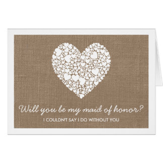 Você será minha madrinha de casamento? Cartão do