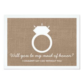 Você será minha madrinha de casamento? Cartão do Convite 12.7 X 17.78cm