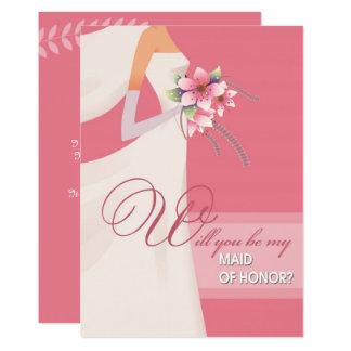 Você será minha madrinha de casamento? Convites do