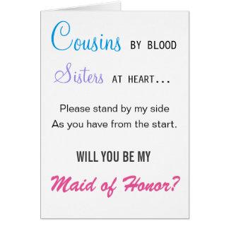 Você será minha madrinha de casamento - primo cartão comemorativo