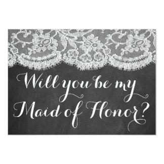 Você será minha madrinha de casamento? Quadro & Convite 12.7 X 17.78cm
