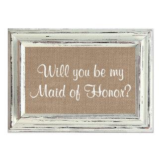 Você será minha madrinha de casamento? Quadro Convite 12.7 X 17.78cm