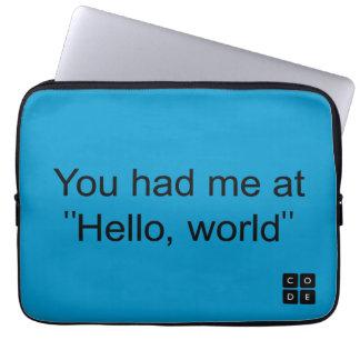 """Você teve-me em """"olá!, mundo """" capas para notebook"""
