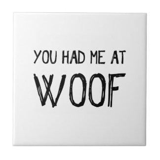 Você teve-me no azulejo do Woof