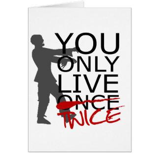 Você vive somente duas vezes zombi cartão