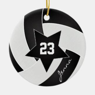 Voleibol branco e preto de All Star Ornamento De Cerâmica
