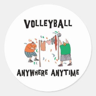 Voleibol em qualquer lugar a qualquer momento adesivo