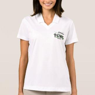 Voluntário do logotipo de TCWC - nome feito sob Camisa Polo