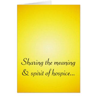 Voluntário orgulhoso do hospício cartão comemorativo
