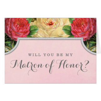 Vontade floral do vintage você seja minha matrona  cartao