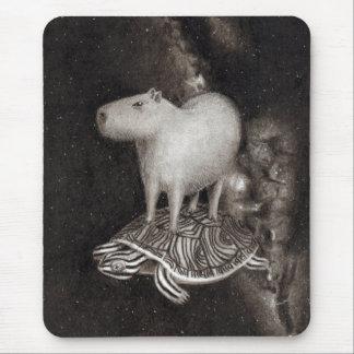 Vôo do Capybara e da tartaruga de água doce Mousepad