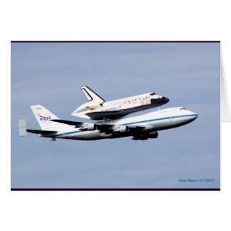 Vôo do final do vaivém espacial da descoberta cartão comemorativo
