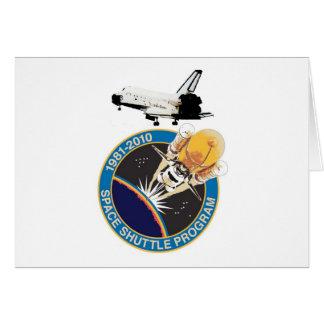 Vôo final comemorativo do vaivém espacial cartão comemorativo