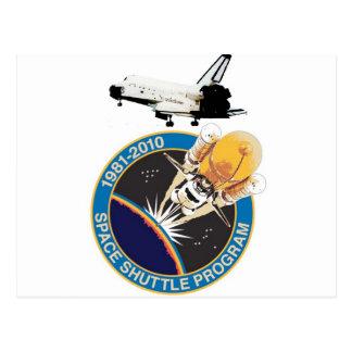 Vôo final comemorativo do vaivém espacial cartão postal