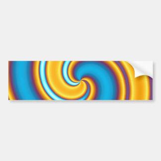 Vortex abstrato de fluxo do amarelo adesivo para carro