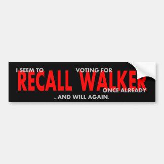 Votado para o caminhante uma vez - outra vez adesivo para carro