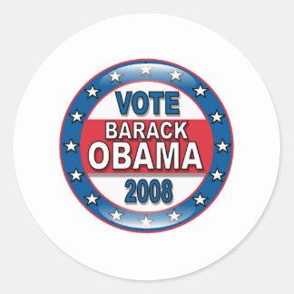 Voto Barack Obama 2008 Adesivo