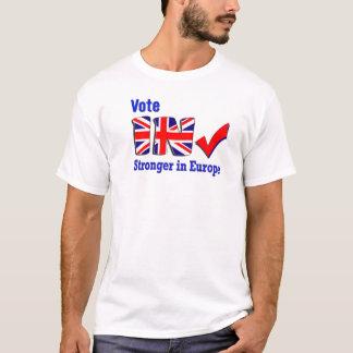 Voto em mais forte no t-shirt do promocional de