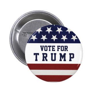 Voto para a eleição presidencial 2016 do trunfo bóton redondo 5.08cm