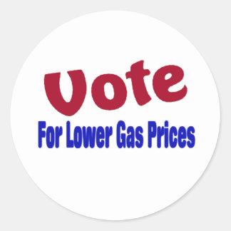 voto para mais baixos preços de gás adesivo