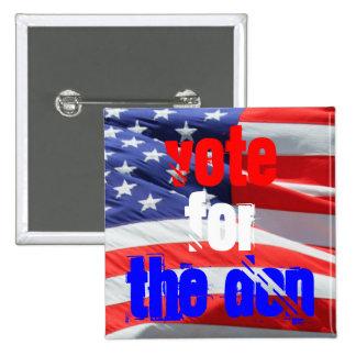 Voto para o Don, eleições presidenciais Bóton Quadrado 5.08cm