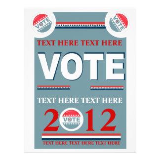 Voto político panfleto
