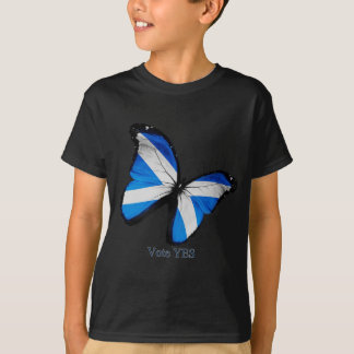 Voto sim para a independência escocesa t-shirt