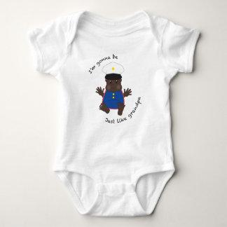Vovô do soldado - dressy body para bebê