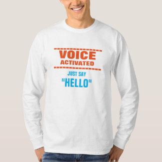 Voz ativada camiseta
