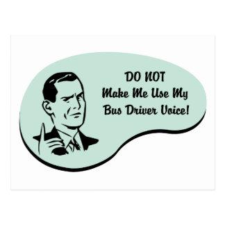 Voz do condutor de autocarro cartão postal