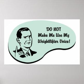 Voz do Weightlifter Impressão