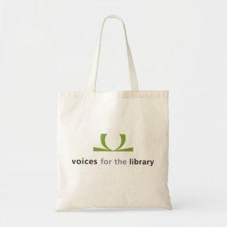 Vozes para o bolsa da biblioteca