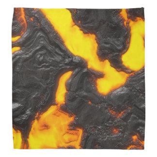 Vulcânico alaranjado amarelo do fluxo de lava & faixa de cabeça