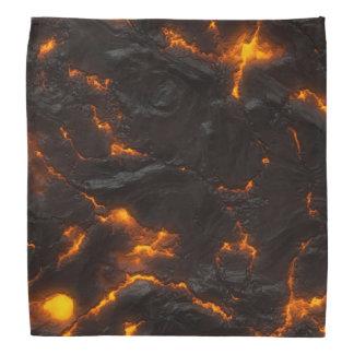 Vulcânico alaranjado amarelo do fluxo de lava & panos para cabeça