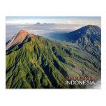 Vulcão do Monte Merapi em Indonésia Cartão Postal