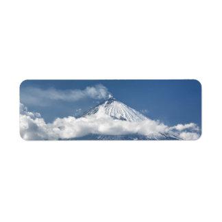 Vulcão Klyuchevskaya Sopka na península de Etiqueta Endereço De Retorno